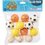 Foam Novelty Mini Sports Balls (pack of 12)