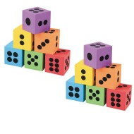 "2-1/2"" EVA Foam Dice (pack of 12)"