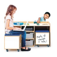 Whitney Brothers® STEM Activity Table & Mobile Bin Set (set of 3)