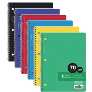 1-Subject College Ruled Spiral Notebooks Value Pack (pack of 24)