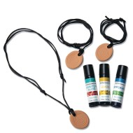 Aromatherapy Pendant Necklaces and Essential Oils Pack