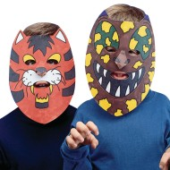 Unprinted Animal Masks (pack of 24)