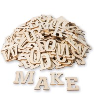 3 INCH WOOD CRAFT LETTERS PK300
