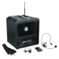 AmpliVox® Mega Hailer PA System with Microphone & Headset