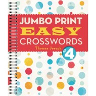 Jumbo Print Easy Crosswords Book 4