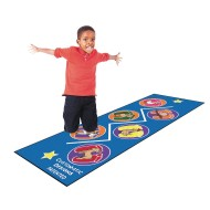 Flagship Carpet® Customatic Designs® Motor Development Zig Zag Jump™