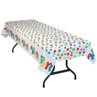 "Table Mate® 54"" x 108"" Party Balloon Plastic Table Cover Value Pack (pack of 12)"