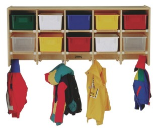 Coat Locker with Clear Trays