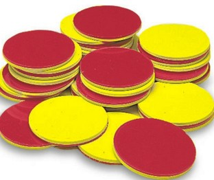 2 COLOR COUNTERS  YELLOW & RED SET OF 200