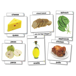 FOOD LANGUAGE CARDS