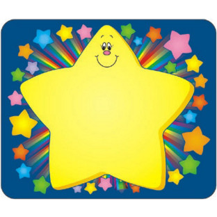 Self-Adhesive Name Tags - Rainbow Star