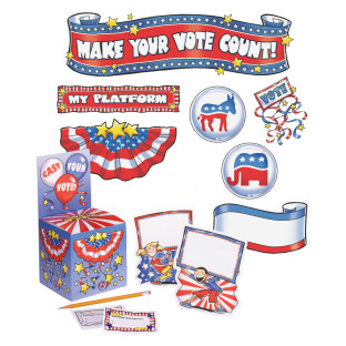 MAKE YOUR VOTE COUNT MINI BULLETIN BOARD SET