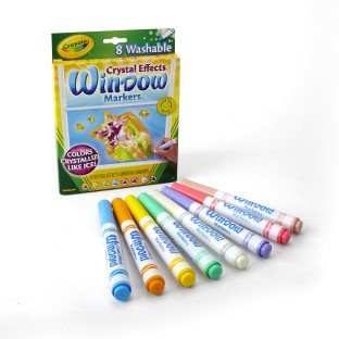 CRAYOLA CRYSTAL EFFECTS WINDOW MARKERS ST8