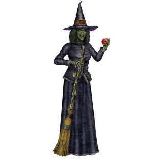 Jointed Witch Figure