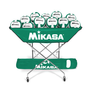 MIKASA VOLLEYBALL BALL CART GREEN
