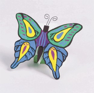 Unfinished Wooden Butterflies, Unassembled