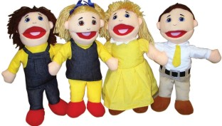PUPPET OPN MTH CAUCASIAN SET OF 4