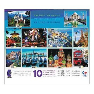AROUND THE WORLD 10 PUZZLE MULTIPACK