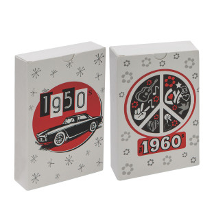 TRIVIA PLAYING CARDS 50S AND 60S SET OF 2