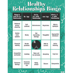 HEALTHY RELATIONSHIPS BINGO GAME