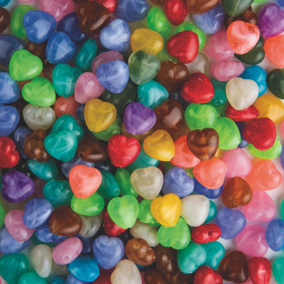 Heart Bead Assortment 1/2-lb Bag