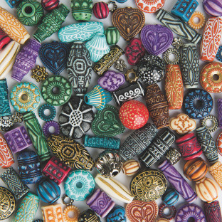 Ornate old world style beads.