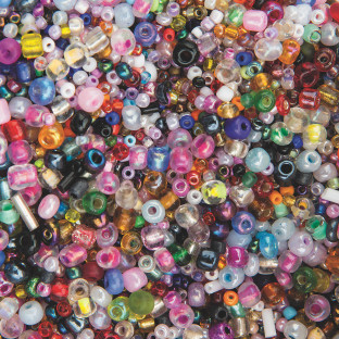 GLASS SEED BEADS ASSORTMENT 1 LB BAG