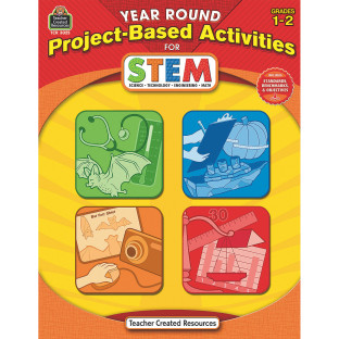 Year Round Project Based Activities for STEM Grades 1-2 Book