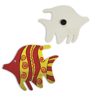 Tropical Fish Wood Magnet Craft Kit