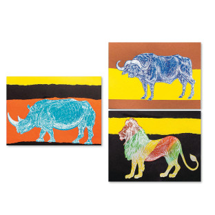 AFRICAN ANIMALS REVEAL KIT PK 36
