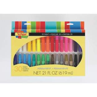SCRIBBLES 3D FABRIC PAINT PENS PK30