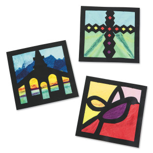 CATHEDRAL STAIN GLASS CRAFT KIT PK/24