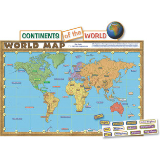 WORLD MAP BULLETIN BOARD SET