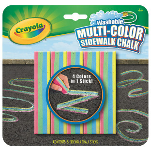 MULTI-COLOR SIDEWALK CHALK PK5