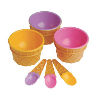 ICE CREAM BOWL AND SPOON SETS PK12