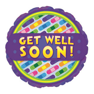 Get Well Bandages Mylar Balloons