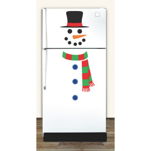 1 SHEET PEEL AND PLACE SNOWMAN