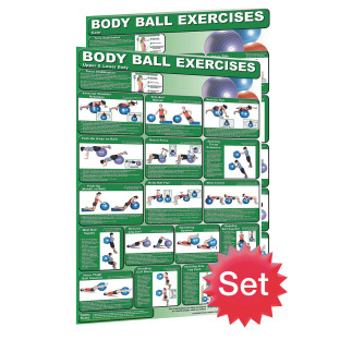 Exercise Ball Poster Set