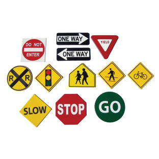 Traffic Sign Floor Markers