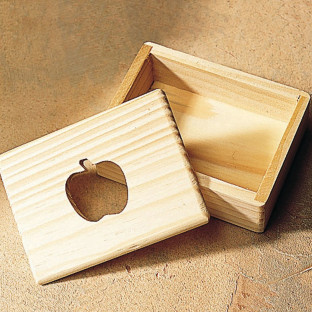 WOOD BOX-APPLE 3-1/2 X 2-1/2 X 1-1/4H