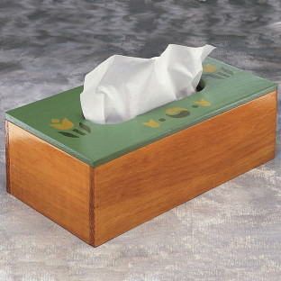 UNFINISHED TISSUE BOX 11IN L X 6IN W X 3 3/4IN H