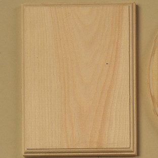 PLAQUE WD PINE RCTNGL 6X8IN