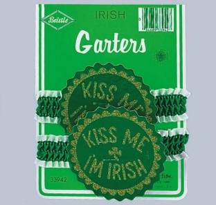 ST PATRICKS GARTERS 6PAIR