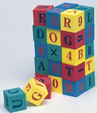 LETTER AND NUMBER CUBES PK/30