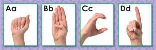 SIGN LANGUAGE CARDS - ALPHABET