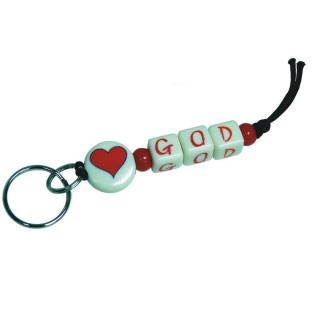 LOVE GOD KEY CHAIN PK/12