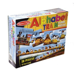 PUZZLE FLOOR ALPHABET TRAIN 28 PC