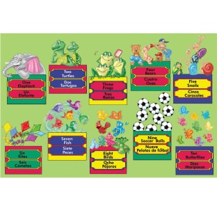 PUZZLE BILINGUAL NUMBERS 24PC FLOOR