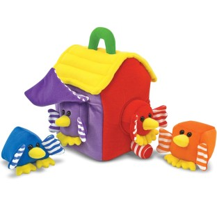 SOFT TOY BIRD HOUSE SHAPE SORTER