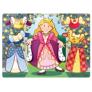 WOOD PUZZLE PRINCESS DRESS-UP MIX N MATCH PEG